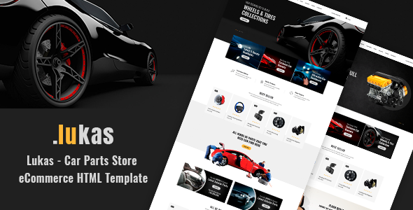 Lukas v1.0 — Car Parts Store eCommerce HTML Template