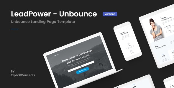 LeadPower v1.0 — Unbounce Landing Page Template