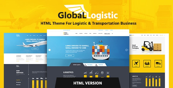 Global Logistics v1.1 — Transportation HTML Template