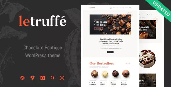 Le Truffe v1.1.0 — Chocolate Boutique WordPress Theme