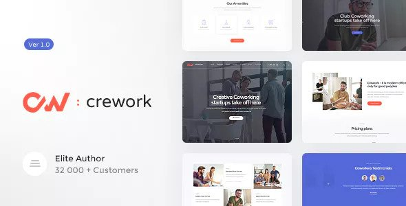 Crework v1.1.3 — Coworking and Creative Space Theme