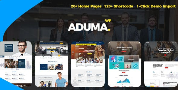 Aduma v1.3.1 — Consulting, Finance, Business WordPress Theme
