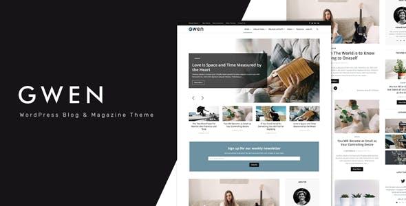 Gwen v1.1 — Creative Personal WordPress Blog Theme