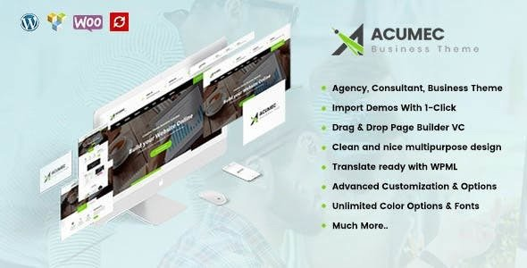 Acumec v1.3.1 — Business Multipurpose WordPress Theme