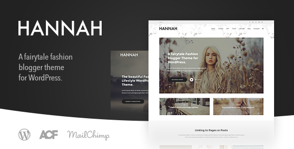 Hannah CD v2.0 — Lifestyle & Fashion Blog Theme for WordPress