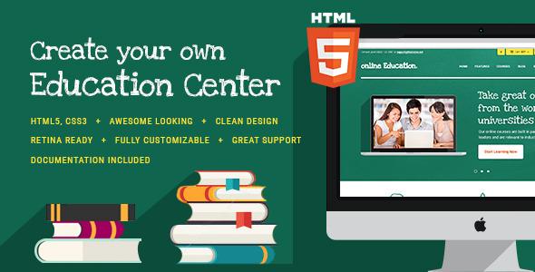 Education Center & Training Courses v1.1 — HTML Theme