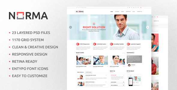 NORMA v1.1 — Clean & Responsive HTML Theme