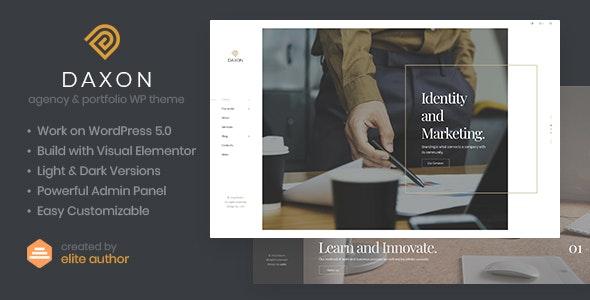 Daxon v1.0.1 — Agency & Portfolio WordPress Theme