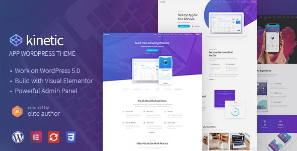 Kinetic v1.0.1 — Desktop, Mobile & Product App WordPress Theme