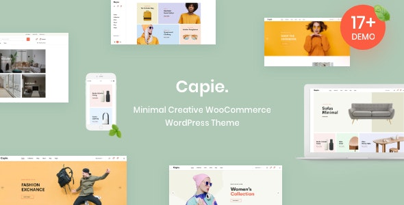Capie v1.0.3 — Minimal Creative WooCommerce WordPress Theme