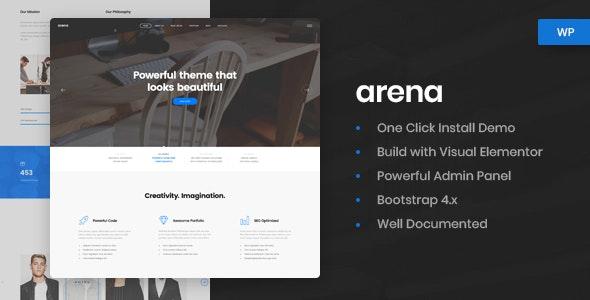 Arena v1.0.3 — Business & Agency WordPress Theme