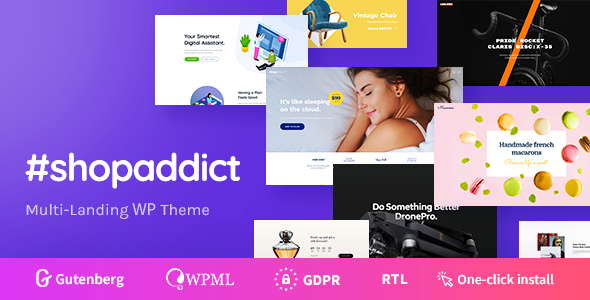 Shopaddict v1.0.0 — WordPress Landing Pages To Sell Anything