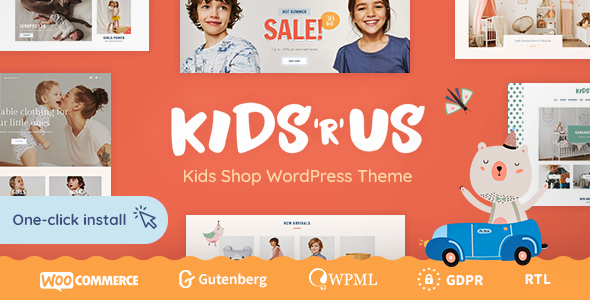 Kids R Us v1.0.1 — Toy Store and Kids Clothes Shop Theme