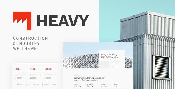 Heavy v1.0.1 — Industrial WordPress Theme