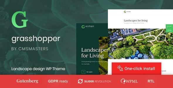 Grasshopper v1.0.4 — Landscape Design and Gardening Services WP Theme
