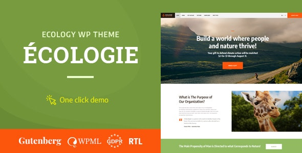 Ecologie v1.0.2 — Environmental & Ecology WordPress Theme