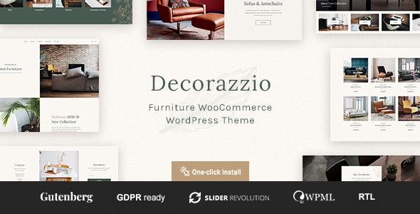 Decorazzio v1.0.1 — Interior Design and Furniture Store WordPress Theme