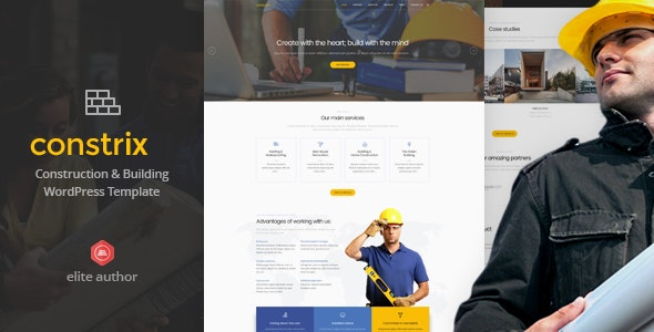 Constrix v1.0 — Construction & Building WordPress Theme