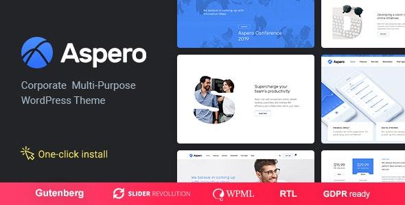 Aspero v1.0.3 — Business WordPress Theme