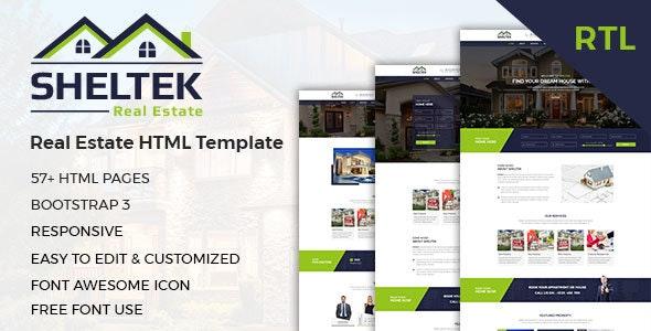 Sheltek — Real Estate HTML Template + RTL