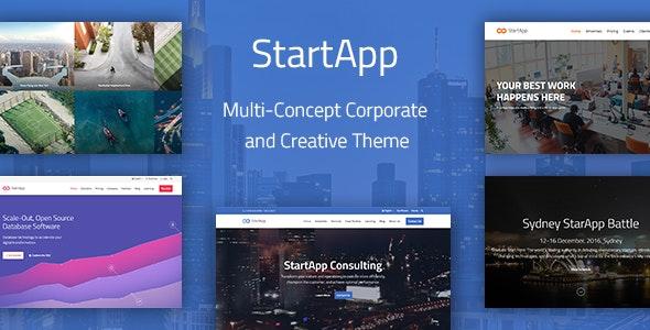 StartApp v1.4.4 — Multi-Concept Corporate And Creative Theme