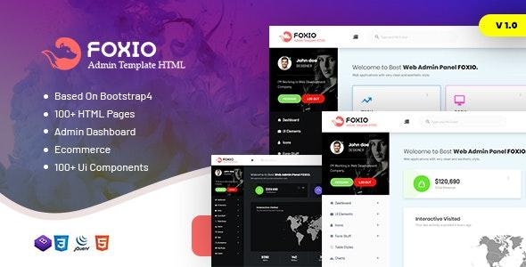 Foxio v1.0 — Responsive Admin Dashboard Template