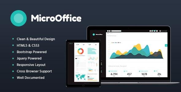 Micro Office v1.2 — HTML Admin Template