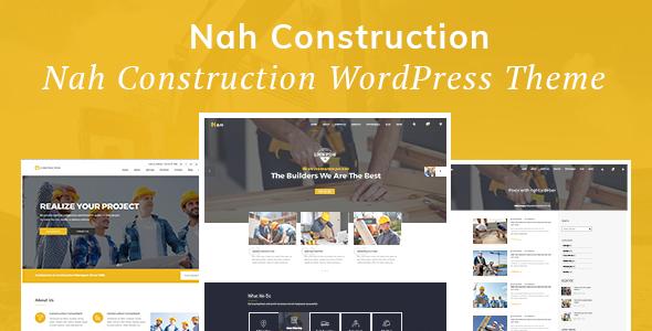 Nah v1.1.4 — Construction, Building Business Theme
