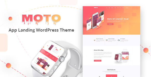 Moto v1.1.4 — WordPress Landing Page Theme