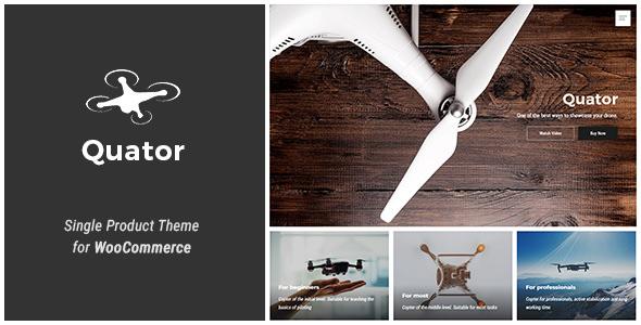 Quator v1.1.1 — Single Product WordPress Theme