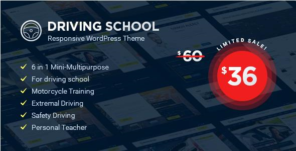 Driving School v1.4.0 — WordPress Theme