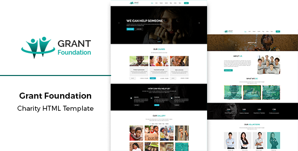 Grant Foundation — Nonprofit Charity HTML Template