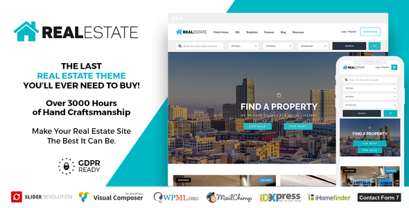 Real Estate 7 v2.9.0 — Real Estate WordPress Theme