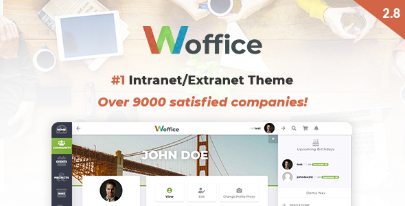Woffice v2.8.5 — Intranet/Extranet WordPress Theme