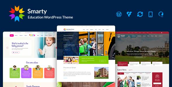 Smarty v3.1.1 — Education WordPress Theme for Kindergarten