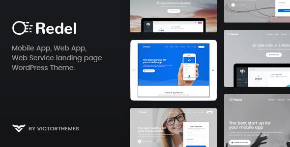 Redel v1.6.1 — Responsive App Landing WordPress Theme