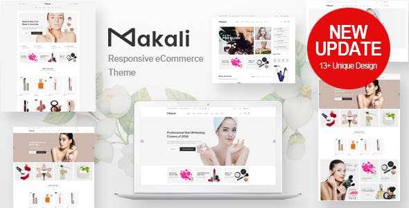 Makali v1.2.6 — Cosmetics & Beauty Theme