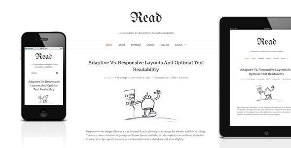 Read WP v4.4.8 — Minimalist WordPress Blog Theme