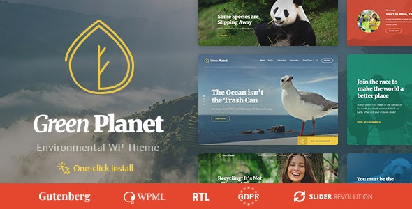 Green Planet v1.0.5 — Ecology & Environment WordPress Theme