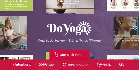 Do Yoga v1.1.0 — Fitness Studio & Yoga Club WordPress Theme