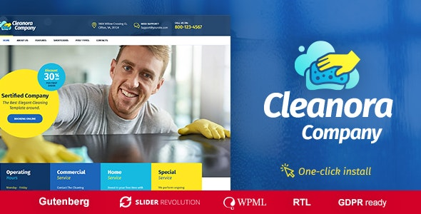 Cleanora v1.0.3 — Cleaning Services Theme