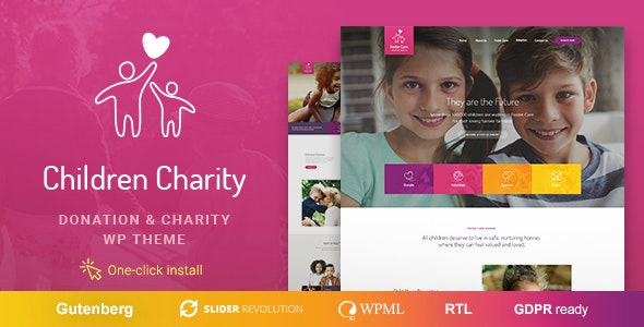 Children Charity v1.0.8 — Nonprofit & NGO WordPress Theme with Donations