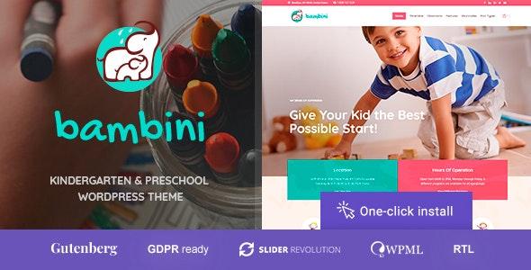 Bambini v1.0.4 — Kindergarten & Pre-School Theme