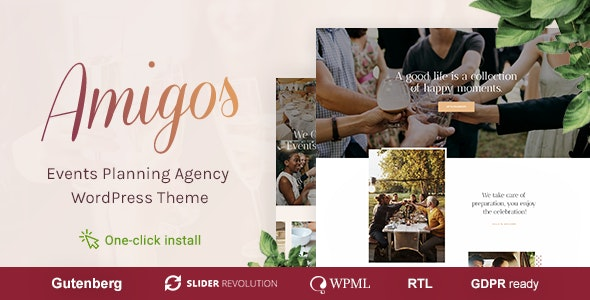 Amigos v1.0.2 — Party & Celebration Event Agency