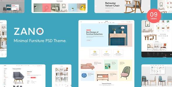 Zano — Furniture eCommerce PSD Template