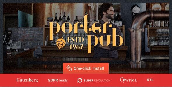Porter Pub v1.0.8 — Restaurant & Bar WordPress Theme