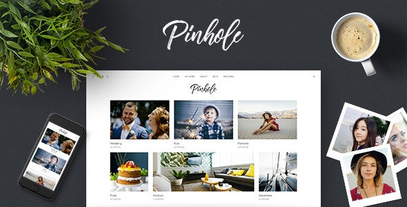 Pinhole v1.5.2 — WordPress Gallery Theme for Photographers