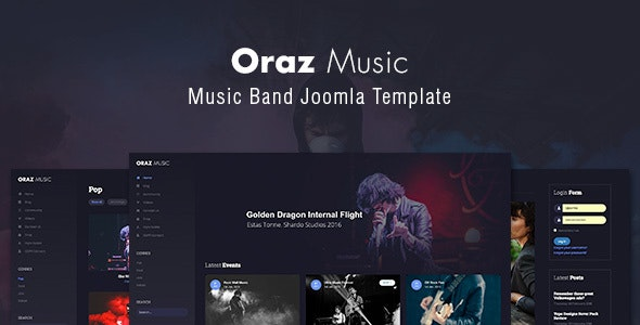 Oraz — Music Band Joomla Template