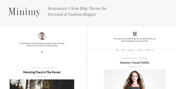 Minimy v1.2.0 — Responsive Clean Personal & Fashion Blog