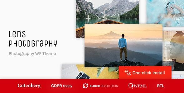 Lens Photography v1.0.5 — Photography Portfolio WordPress Theme
